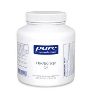 Flax/Borage Oil 250sg by Pure Encapsulations