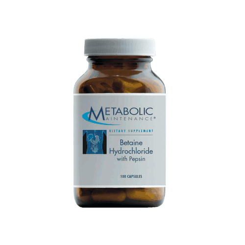 Betaine HCL w/ Pepsin 100c by Metabolic Maintenance