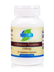 5-HTP 100mg 90c by Priority One