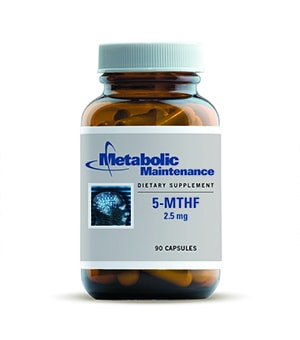 5-MTHF Extrafolate-S 2.5mg 90 caps by Metabolic Maintenance
