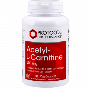 acetyl l carnitine 500mg 100vcaps by protocol