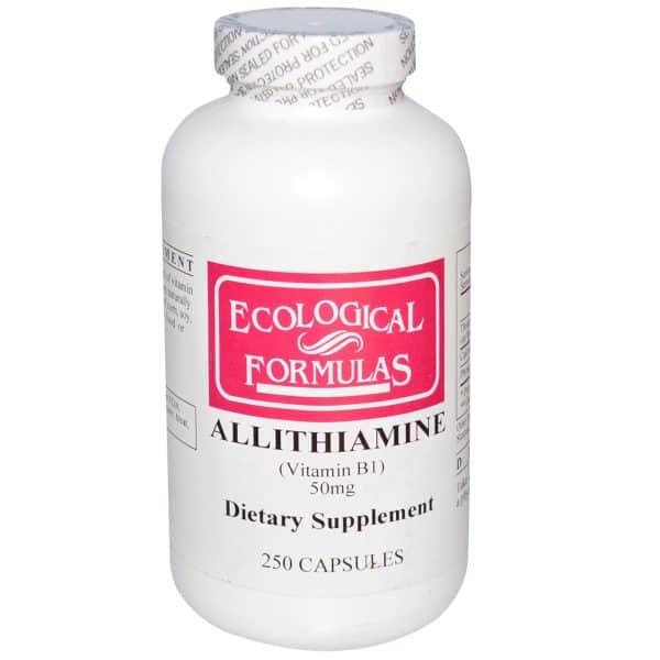 Allithiamine (Vitamin B1) 50 mg 250 caps by Ecological Formulas 1