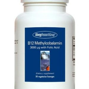 B12 Methylcobalamin 3,000mg 50 Veg Lozenges By Allergy Research Group