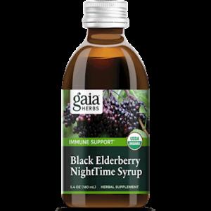 black elderberry nighttime syrup 5.4oz by gaia herbs