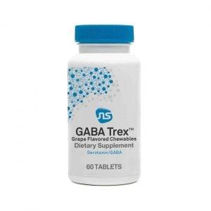 gaba trex chewable tablets grape flavor 60 tabs by neuroscience