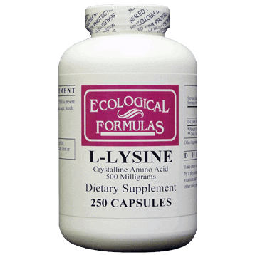 L-Lysine 500mg 250caps by Ecological Formulas 1