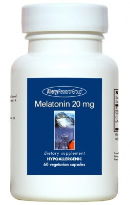 Melatonin 20mg 60vcaps (previously S Gard) By Allergy Research Group