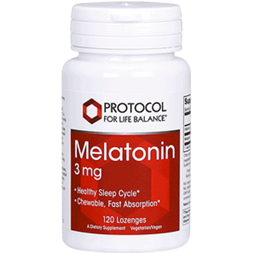 melatonin 3mg lozenge + b 6 120 loz by protocol