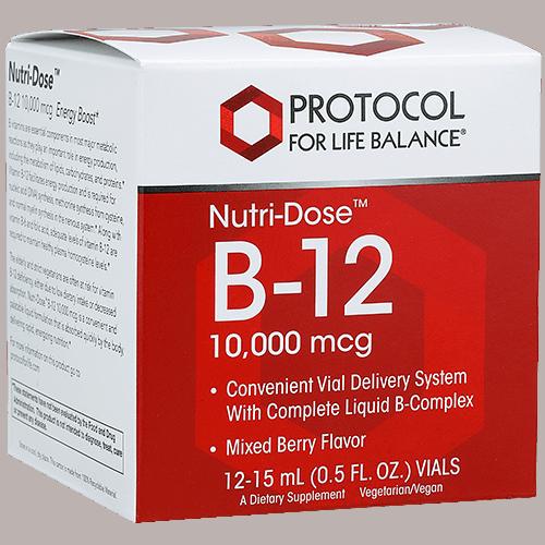 nutri dose b 12 10,000mcg 12x15ml by protocol