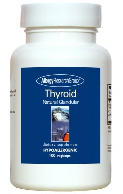 Thyroid Natural Glandular 100vcaps By Allergy Research Group
