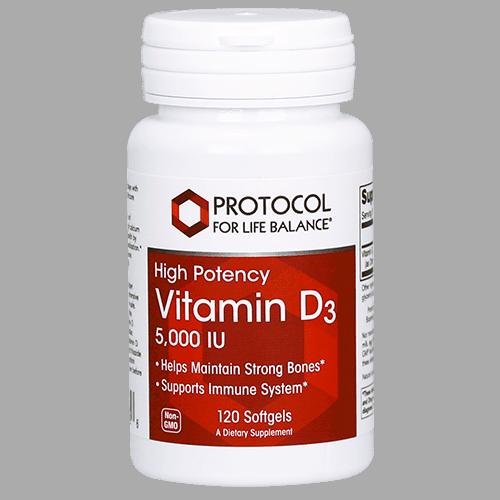 vit d 3 5,000iu (high potency) 120sg by protocol