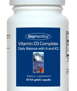 Vitamin D3 Complete Fish Gelatin Capsules 60caps By Allergy Research Group
