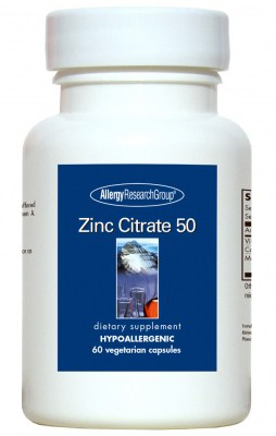 Zinc Citrate 50mg 60vcaps By Allergy Research Group