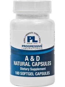 A & D Natural Capsules 100sg by Progressive Labs
