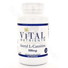 Acetyl L-Carnitine 500mg 60c by Vital Nutrients