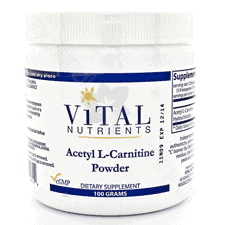 Acetyl L-Carnitine Powder 100g by Vital Nutrients