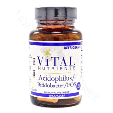 Acidophilus/Bifido/FOS 60c by Vital Nutrients