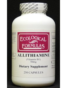 Allithiamine (Vitamin B1) 50 mg 250 caps by Ecological Formulas
