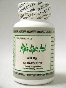 Alpha Lipoic Acid 300 mg 60 caps by Montiff