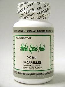 Alpha Lipoic Acid 300 mg 60 caps by Montiff