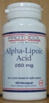 Alpha Lipoic Acid 250mg 90c by Protocol