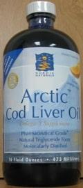 Arctic Cod Liver Oil/Orange 16oz by Nordic