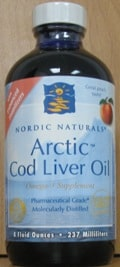 Arctic Cod Liver Oil/Peach 8oz by Nordic