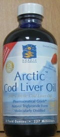 Arctic Cod Liver Oil/Strawberry 8oz by Nordic