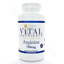 Arginine 750mg 120 vcaps by Vital Nutrients