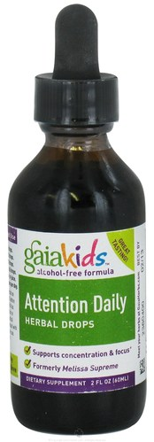Attention Daily Herbal Drops (Gaia Kids) 2oz by Gaia Herbs