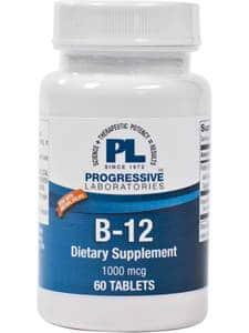B-12 Lingual 1000mcg 60t by Progressive Labs