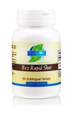 B-12 Rapid Shots (sublingual) 60t by Priority One