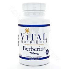 Berberine 200mg 60 vcaps by Vital Nutrients