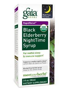 Black Elderberry NightTime Syrup 3oz by Gaia Herbs