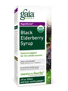Black Elderberry Syrup 3oz by Gaia Herbs