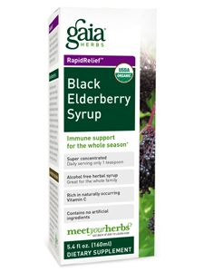 Black Elderberry Syrup 5.4oz by Gaia Herbs