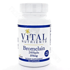 Bromelain 375mg 2400gdu 60c by Vital Nutrients