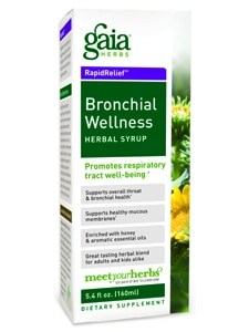 Bronchial Wellness Herbal Syrup 5.4oz by Gaia Herbs