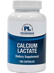 Calcium Lactate 115mg 100c by Progressive Labs