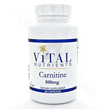 Carnitine 500mg 60c by Vital Nutrients