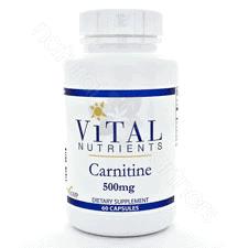 Carnitine 500mg 60c by Vital Nutrients
