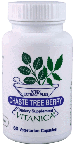 Chaste Tree Berry 60c by Vitanica