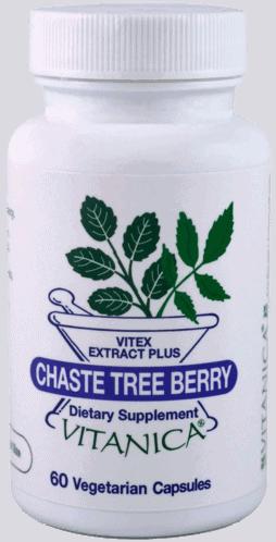 Chaste Tree Berry 60c by Vitanica