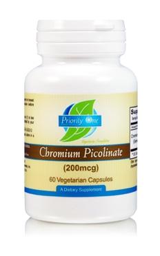 Chromium Picolinate 200mcg 60c by Priority One