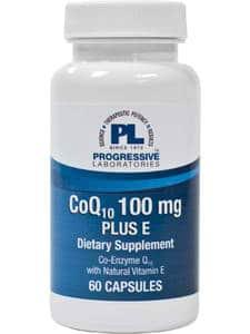 CoQ10 100mg Plus E 60c by Progressive Labs