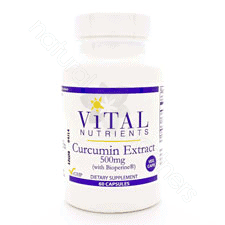 Curcumin Extract 500mg 60vcaps by Vital Nutrients