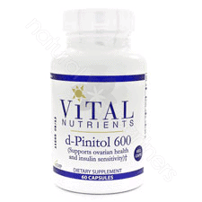 d-Pinitol 600mg 60c (PCOS) by Vital Nutrients