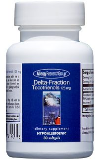 Delta-Fraction Tocotrienols 125mg 30sg by Allergy Research Group