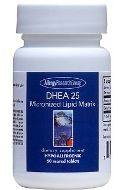 DHEA 25mg Micronized Lipid Matrix 60t by Allergy Research Group