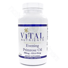 Evening Primrose 500mg 250c by Vital Nutrients